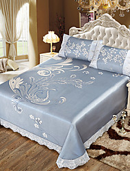 cheap -Duvet Cover Sets Floral Ice Silk Jacquard 3 Piece
