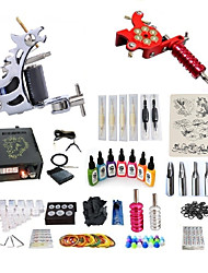 cheap -BaseKey Tattoo Machine Starter Kit - 2 pcs Tattoo Machines with 7 x 15 ml tattoo inks, Professional, Kits Alloy LCD power supply Case Not Included 20 W 1 steel machine liner & shader, 1 alloy machine