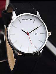 cheap -Men's / Women's Wrist Watch Chinese Calendar / date / day / Casual Watch PU Band Fashion / Minimalist Black / Brown