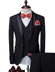 cheap -Men's Party Daily Business Casual Slim Suits-Solid Colored Notch Lapel / Please choose one size larger according to your normal size.
