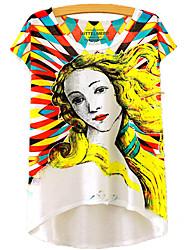 baratos -Mulheres Camiseta Estampado, Retrato