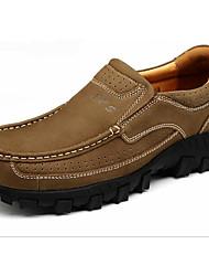 cheap -Men's Cowhide Winter Comfort Loafers & Slip-Ons Black / Light Brown / Khaki