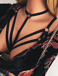 Недорогие -Жен. Супер секси Пояс для чулок / подвязки Ночное белье - Открытая спина Однотонный