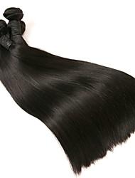 Недорогие -Перуанские волосы Прямой Необработанные / 100% Remy Hair Weave Bundles Накладки из натуральных волос Ткет человеческих волос Мягкость /