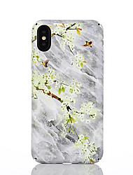 Недорогие -Кейс для Назначение Apple iPhone X / iPhone 8 С узором Кейс на заднюю панель Цветы Твердый ПК для iPhone X / iPhone 8 Pluss / iPhone 8