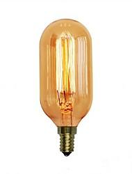Недорогие -1шт 40 W E14 / E26 / E27 T45 Тёплый белый 2300 k Ретро / Декоративная Лампа накаливания Vintage Эдисон лампочка 220-240 V / 110-120 V