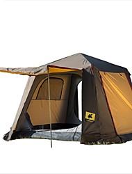 Недорогие -CHANODUG® 5 на открытом воздухе Палатка с экраном от солнца С защитой от ветра Дожденепроницаемый Автоматический Туристическая палатка-хижина Однокомнатная Двухслойные зонты >3000 mm Палатка для