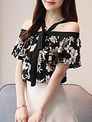preiswerte -Damen Blumen Bluse