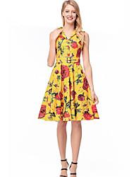 cheap -Women's Boho A Line / Skater Dress - Geometric
