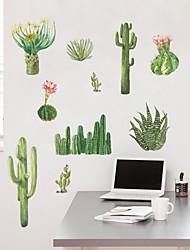 Недорогие -Декоративные наклейки на стены Линейка роста - Простые наклейки Цветочные мотивы / ботанический Гостиная Спальня Ванная комната Кухня