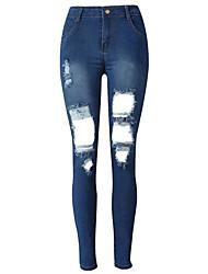 preiswerte -Damen Street Schick Jeans Hose Solide