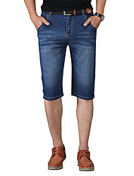 cheap -Men's Basic / Street chic Shorts / Jeans Pants - Solid Colored