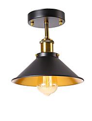 baratos -Modern industrial luz de teto semi flush metal do vintage 1-luz da lâmpada do teto sala de jantar cozinha luminária