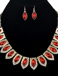 cheap -Jewelry Set - Vintage, Bohemian, Boho Include Drop Earrings / Choker Necklace Red / Blue / Champagne For Wedding / Evening Party / Oversized
