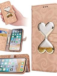 olcso -Case Kompatibilitás Apple iPhone X / iPhone XS / iPhone XR Folyékony Héjtok Szív Kemény PU bőr mert iPhone XS / iPhone XR / iPhone XS Max