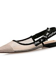 Недорогие -Жен. Обувь Полиуретан Весна лето Удобная обувь На плокой подошве На плоской подошве Заостренный носок Красный / Миндальный