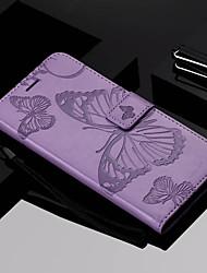 economico -Custodia Per Nokia Nokia 6 2018 / Nokia 5 A portafoglio / Porta-carte di credito / Con supporto Integrale Farfalla Resistente pelle sintetica per Nokia 6 2018 / Nokia 5 / Nokia 3