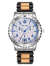 baratos -Homens Relógio Elegante Chinês Cronógrafo / Criativo / Mostrador Grande Silicone Banda Luxo Preta / Vermelho