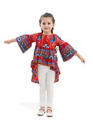 Недорогие -Дети / Дети (1-4 лет) Девочки Цветок солнца Цветочный принт Длинный рукав Платье
