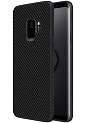 cheap -Case For Samsung Galaxy S9 S9 Plus Embossed Back Cover Lines / Waves Hard Carbon Fiber for S9 Plus S9 S8 Plus S8