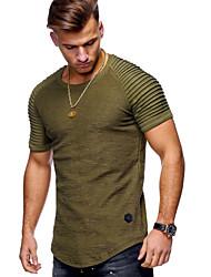 preiswerte -Herrn Solide - Grundlegend T-shirt
