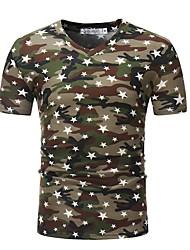 economico -T-shirt Per uomo Camouflage A V - Cotone / Si prega di scegliere una taglia più grande di una misura, rispetto alla solita.