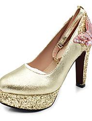 preiswerte -Damen Schuhe Glitzer / Paillette Frühling / Herbst Pumps High Heels Blockabsatz / Plattform Runde Zehe Schleife / Paillette / Glitter für