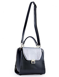 cheap -Women's Bags Cowhide Tote Buttons Black
