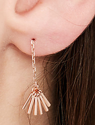 cheap -Women's Tassel Stud Earrings - 18K Gold Plated, S925 Sterling Silver Dainty, Tassel, European Rose Gold For Evening Party / Prom