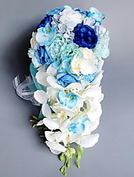 baratos -Flores artificiais 1 Ramo Casamento / buquês de Noiva Rosas Flor de Mesa