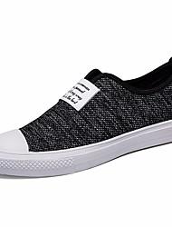 Недорогие -Муж. обувь Полотно Лето Удобная обувь Мокасины и Свитер Черный / Серый