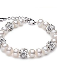 cheap -Women's Freshwater Pearl Strand Bracelet - Pearl, Freshwater Pearl Ball Fashion Bracelet White For Party / Daily