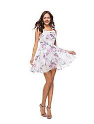 abordables -Mujer Boho / Chic de Calle Línea A Vestido - Malla / Borla / Bordado, Floral / Geométrico Sobre la rodilla