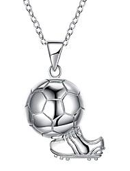 Недорогие -Ожерелья с подвесками - Уникальный дизайн, европейский, Мода Серебряный 46 cm Ожерелье Бижутерия Назначение Подарок, Карнавал