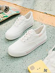 preiswerte -Damen Schuhe Leinwand Frühling Sommer Komfort Sneakers Flacher Absatz Blau / Rosa / Schwarz / weiss
