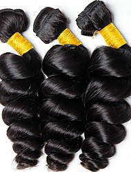 cheap -Malaysian Hair Wavy Unprocessed Human Hair Natural Color Hair Weaves / Human Hair Extensions Gift Bag 8-28 inch Human Hair Weaves Capless Best Quality / New Arrival / For Black Women Natural Black