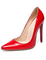 preiswerte -Damen Schuhe Kunstleder Frühling Herbst Pumps High Heels Stöckelabsatz Spitze Zehe für Hochzeit Büro & Karriere Party & Festivität