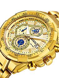 cheap -Men's Quartz Sport Watch Calendar / date / day Casual Watch Stopwatch Stainless Steel Band Luxury Cool Black Silver Gold