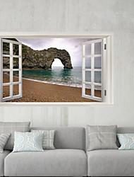 Недорогие -Декоративные наклейки на стены / Наклейки на холодильник - 3D наклейки Пейзаж / Море Гостиная / Офис