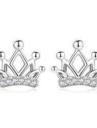 billiga -Dubb Örhängen - Krona Ljuv, Mode Silver Till Dagligen Datum