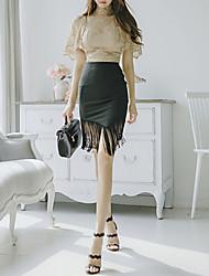 cheap -Women's Set - Color Block Skirt