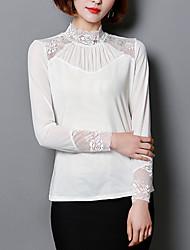 preiswerte -Damen Solide - Grundlegend T-shirt Spitze