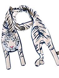 Недорогие -Жен. Очаровательный Прямоугольная - Сетка Полиэстер, С принтом Тигр / Все сезоны