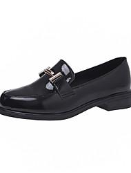 povoljno -Žene Cipele Sintetika, mikrofibra, PU Proljeće ljeto Udobne cipele Natikače i mokasinke Niska potpetica za Vanjski Crn