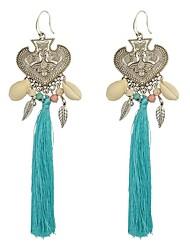 abordables -Femme Cœur Boucles d'oreille goutte - Bohème / énorme / Mode Bleu / Rose Des boucles d'oreilles Pour Mariage / Fête / Soirée