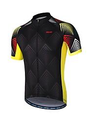 baratos -Arsuxeo Homens Manga Curta Camisa para Ciclismo - Preto Moto Camisa / Roupas Para Esporte, Tiras Refletoras, Redutor de Suor