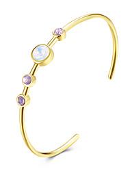 abordables -Cristal Manchettes Bracelets - Doux, Mode Bracelet Or Pour Quotidien / Formel