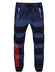 abordables -Hombre Deportivo Chinos Pantalones - A Rayas