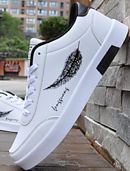 baratos -Homens Sapatos Confortáveis Couro Ecológico Inverno Tênis Preto / Branco / Preto / Branco / azul / Ao ar livre
