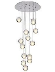 abordables -QIHengZhaoMing Racimo Lámparas Colgantes Luz Ambiente - Cristal, 110-120V / 220-240V, Blanco Cálido, Bombilla incluida / G4 / 15-20㎡